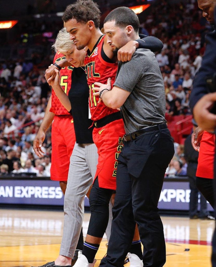 Hawks lose Trae Young to ankle injury